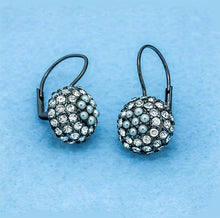 Load image into Gallery viewer, Rhinestone Blackberry Round Drop Earrings