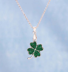 25mmx16mm Lucky Clover Pendant Necklace