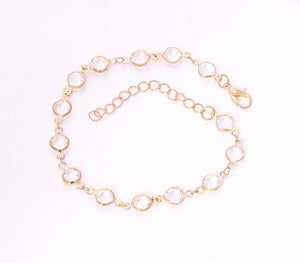Beaded Fashion Chain Bracelet, 7 1/2 inches