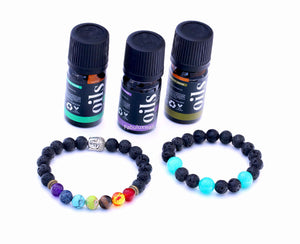 Anti Stress Lava Diffuser Beads Bracelet