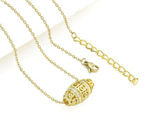 Load image into Gallery viewer, 20mmx11mm Gold Barrel CZ Pendant Necklace
