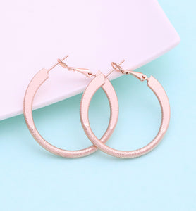 Tinted Rose Gold Hoop Earrings, 40mm