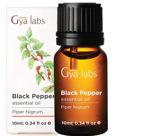 Black Pepper Essential Oil - Curb Smoky Habits For Healthy, Sore-Free Body (25ml) - 100% Pure Natural Therapeutic Grade Black Pepper Oil Essential Oils for Aromatherapy Diffuser & Topical Use