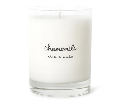 CHAMOMILE SCENTED SOY CANDLE WITH UP TO 75 HOUR BURN TIME, LARGE JAR
