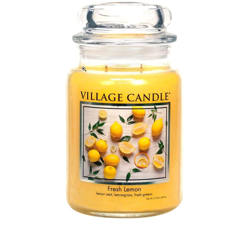 Sicillian Lemon Scented Premium SOY CANDLE with up to 75 Hour Burn Time, Large Jar