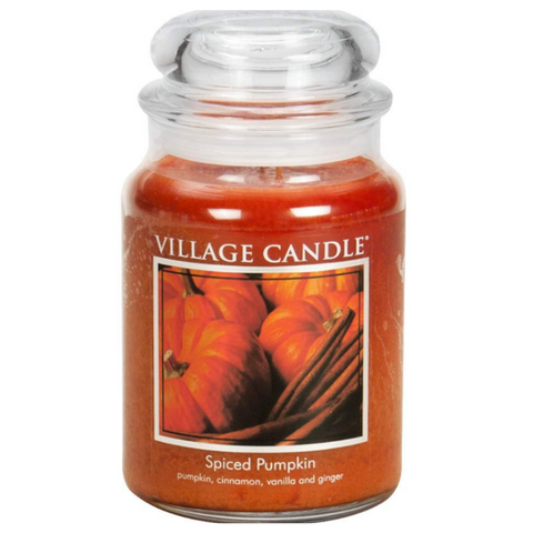 Spiced Pumpkin 26 oz Glass Jar Scented Candle