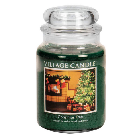 Village Candle Christmas Tree