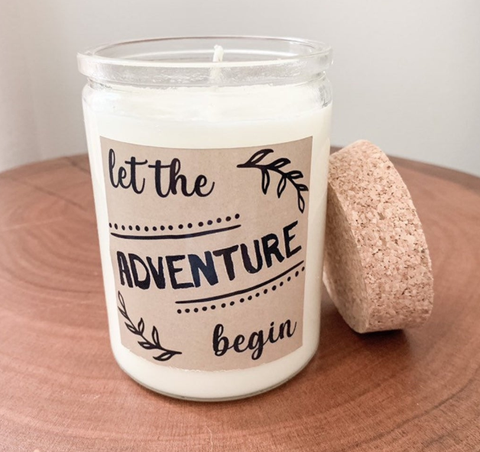 Let the Adventure Begin Soy Candle | Housewarming Gift | Wedding Gift | New Job Gift| Baby Shower
