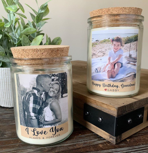 Personalized Photo Candle | Soy Candle Gift | Picture Candle | Custom Gift | Photo Candle Gift India