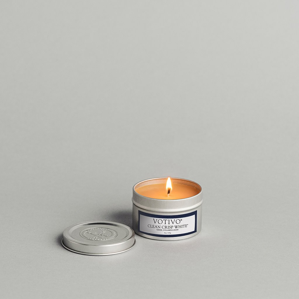 Aromatic Travel Tin Candle-Clean Crisp White