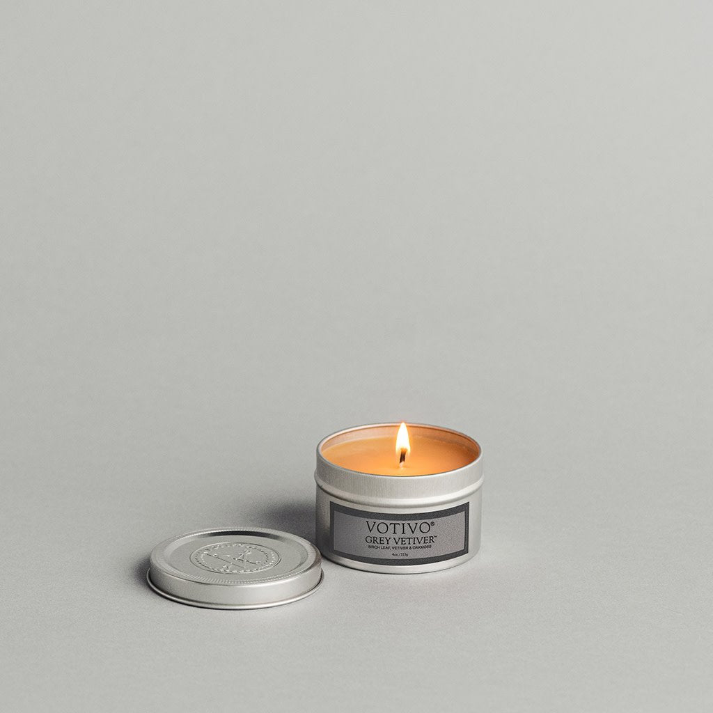 Aromatic Travel Tin Candle-Grey Vetiver