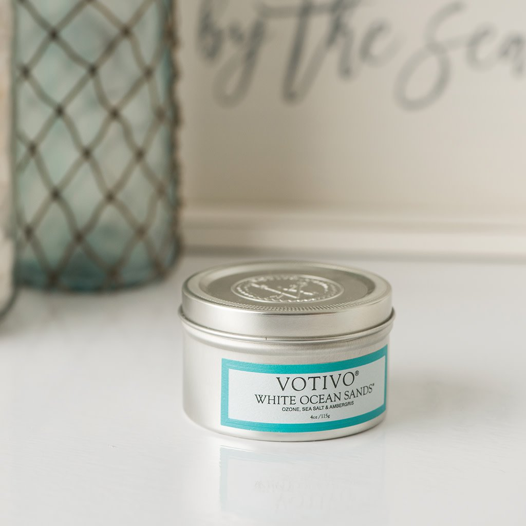 Aromatic Travel Tin Candle-White Ocean Sands