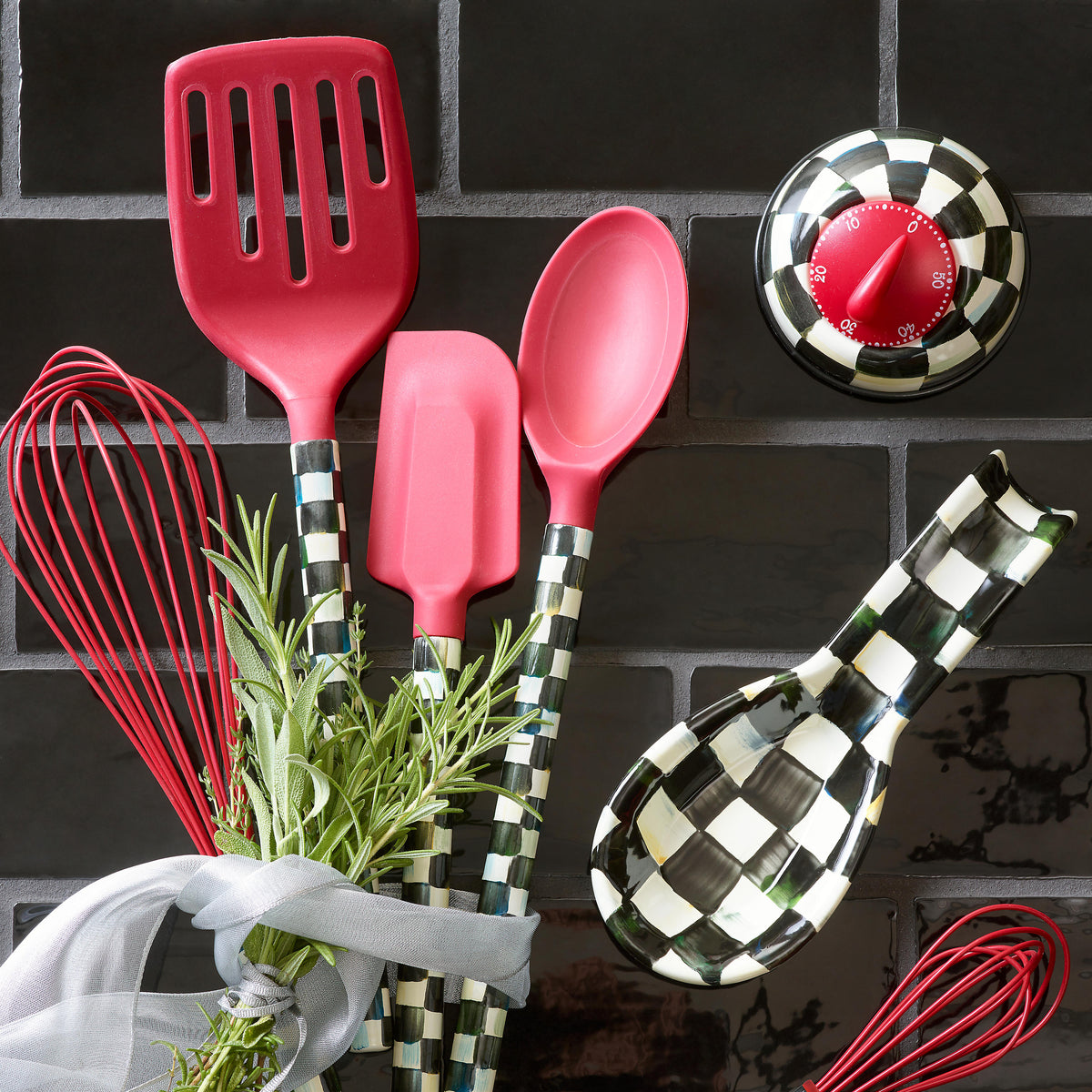 Courtly Check Spatula - Red