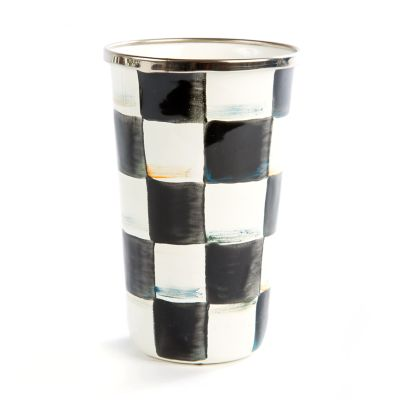 Courtly Check Enamel Tumbler - 10 Ounce