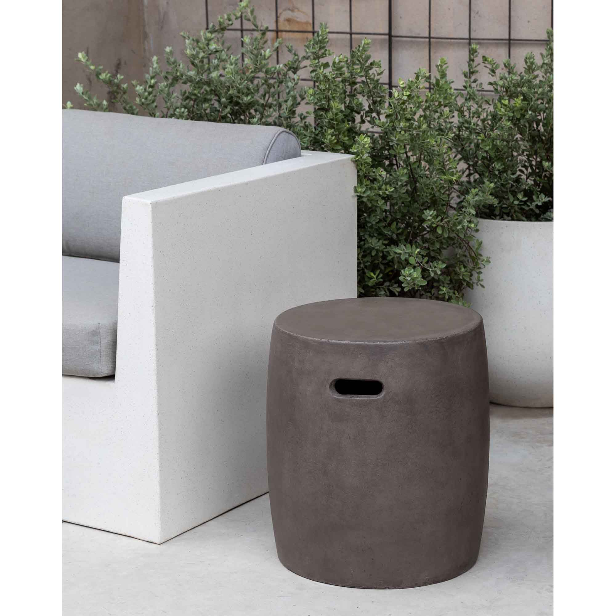 Urban Round Garden Table-Fiber Cement-S/1