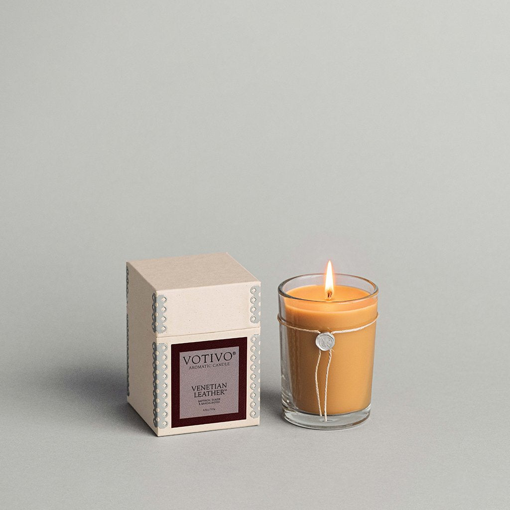 6.8oz Venetian Leather Aromatic Candle