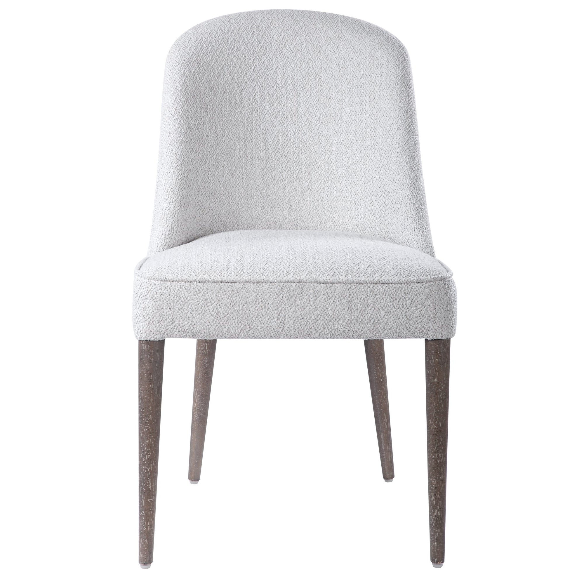 Brie Armless Chair, White,Set Of 2