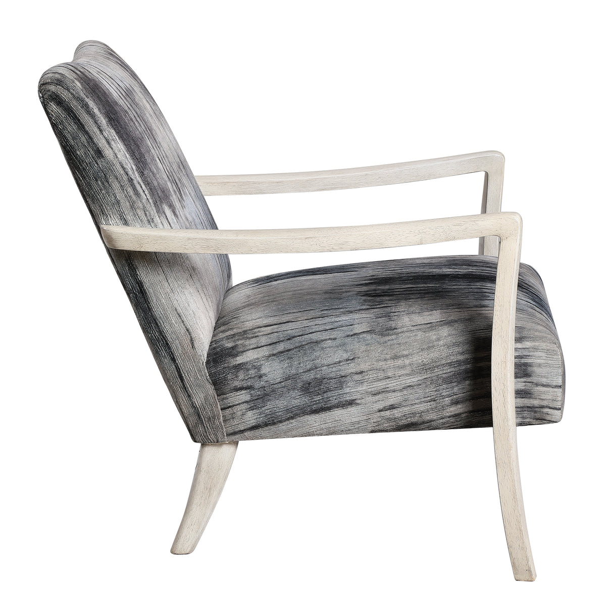 Watercolor Gray Chenille Accent Chair