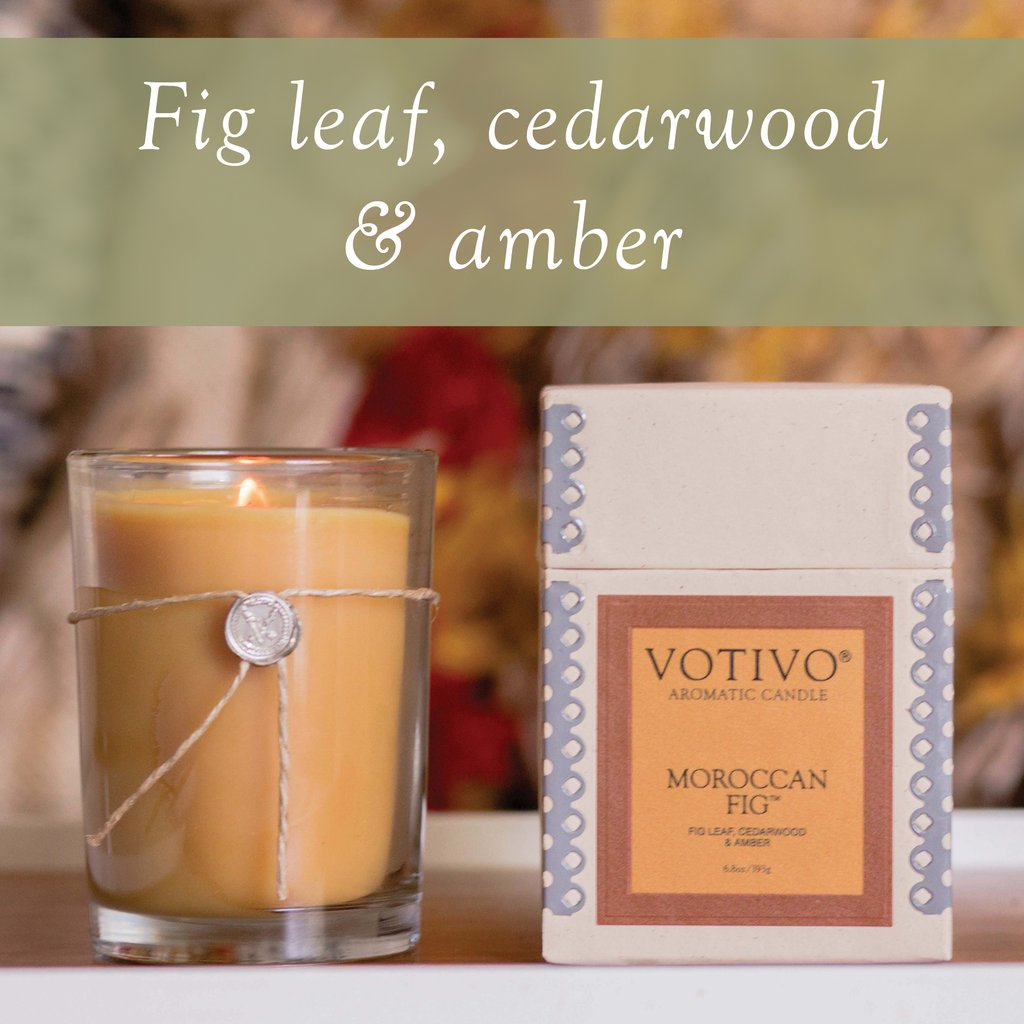 6.8 oz Aromatic Candle Moroccan Fig