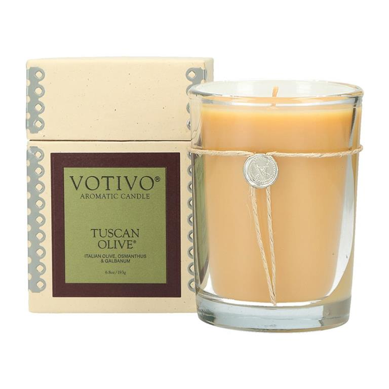 6.8 oz Aromatic Candle Tuscan Olive