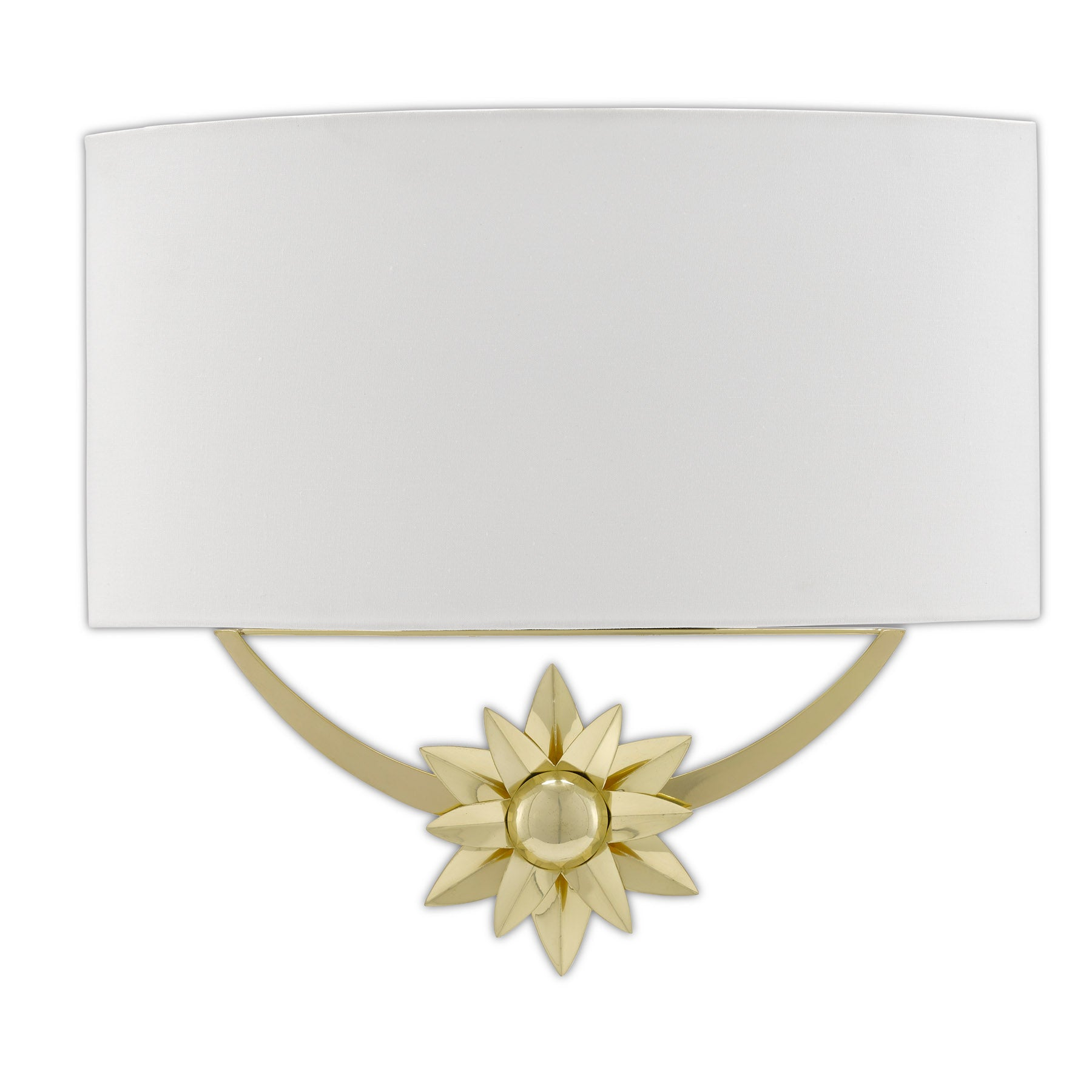 Dayflower Brass Wall Sconce