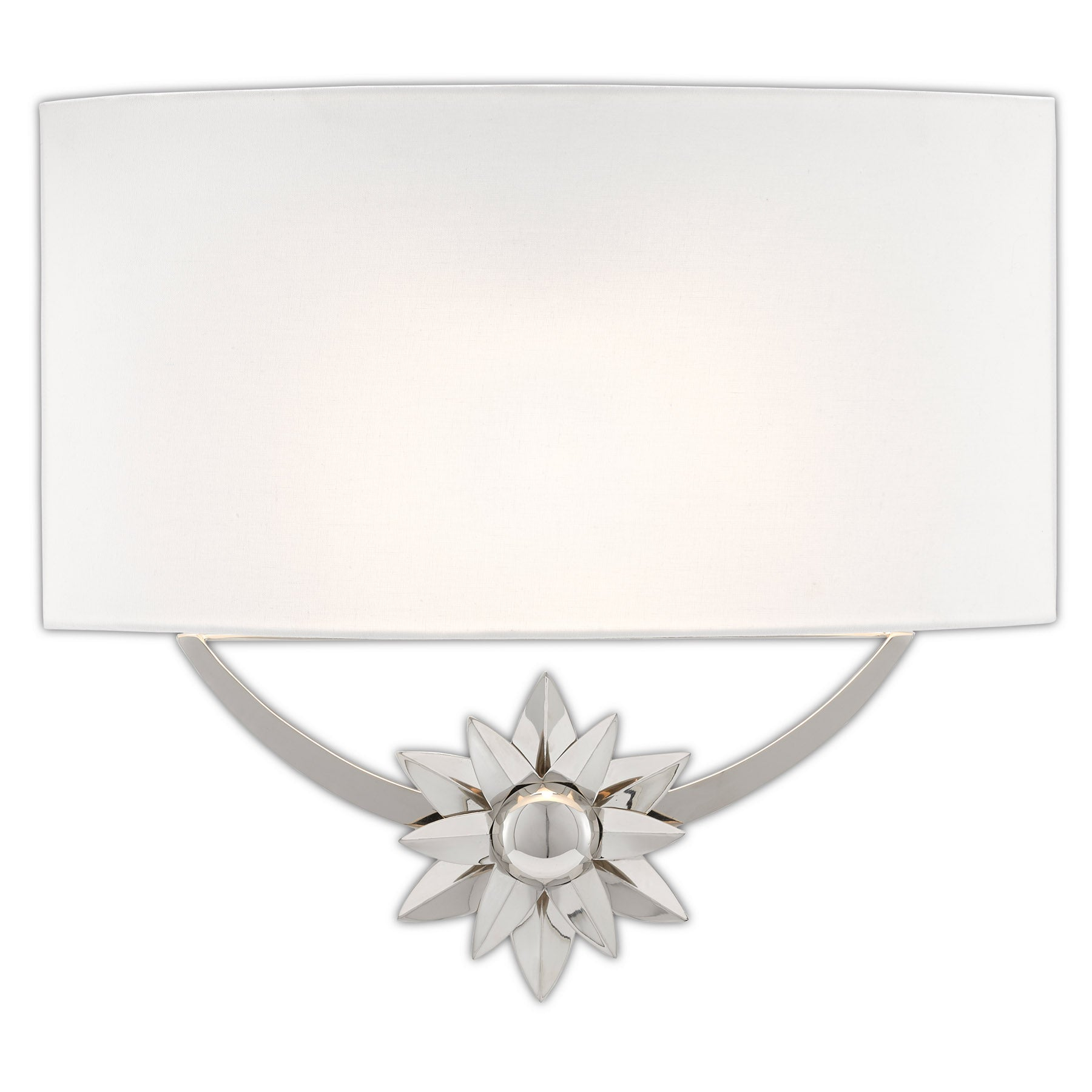 Dayflower Nickel Wall Sconce