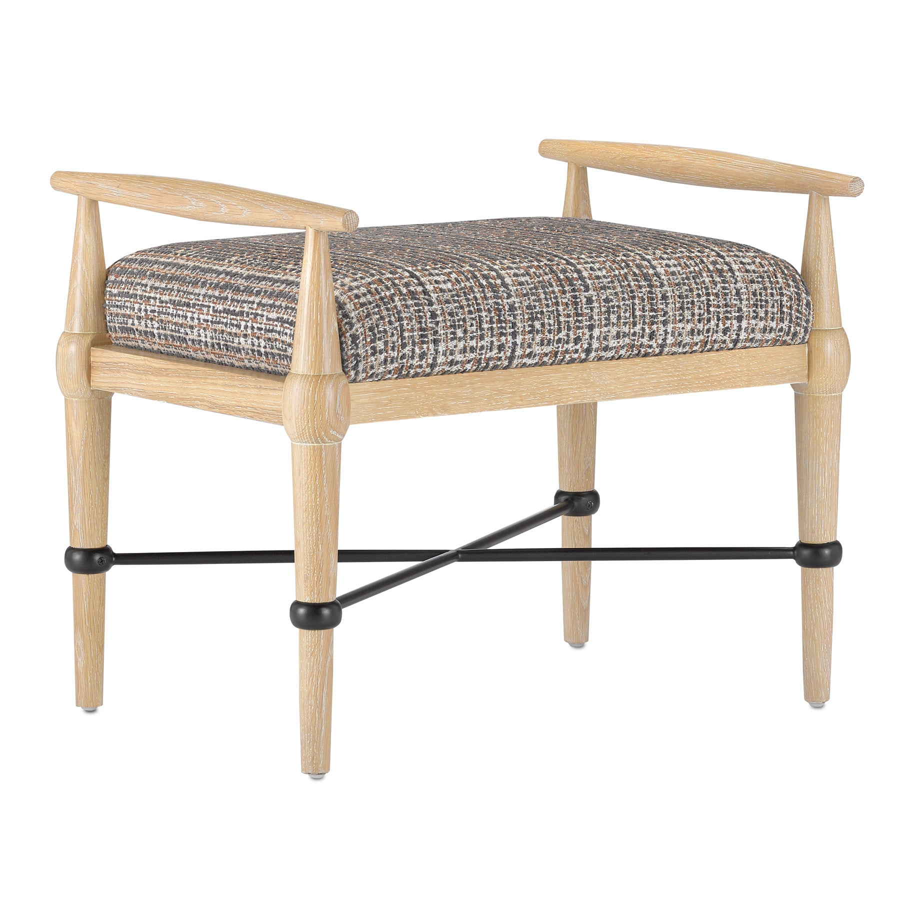 Perrin Tweed Natural  Ottoman