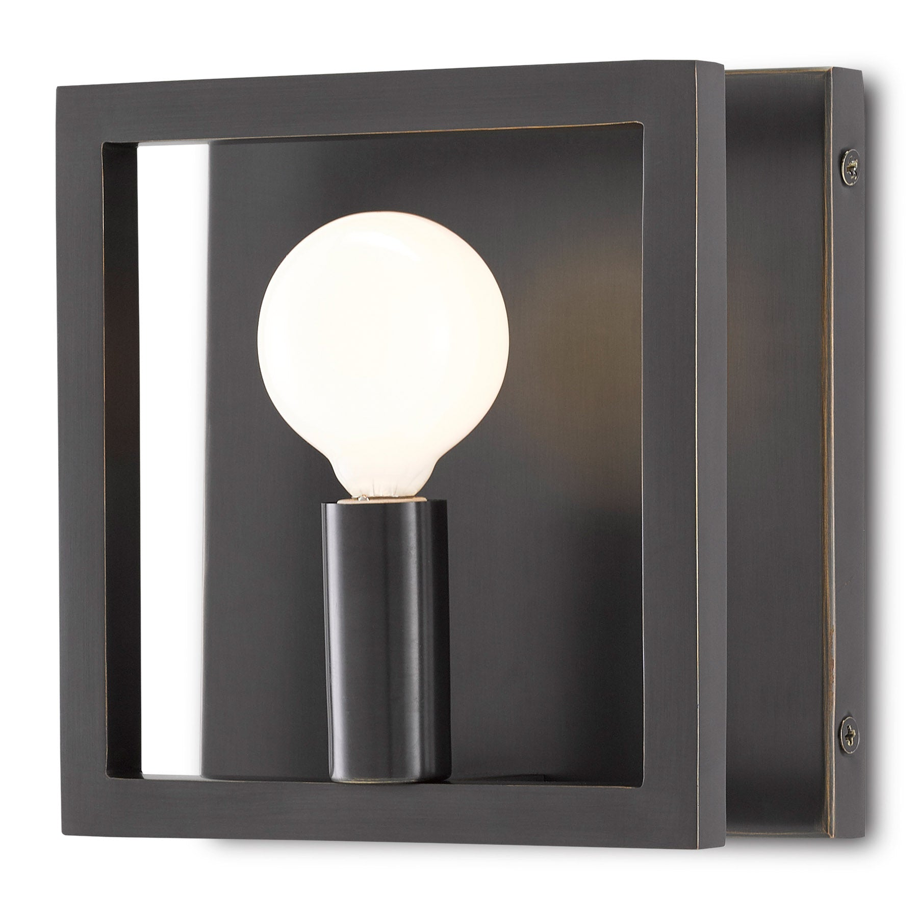 Quadrato Bronze Wall Sconce
