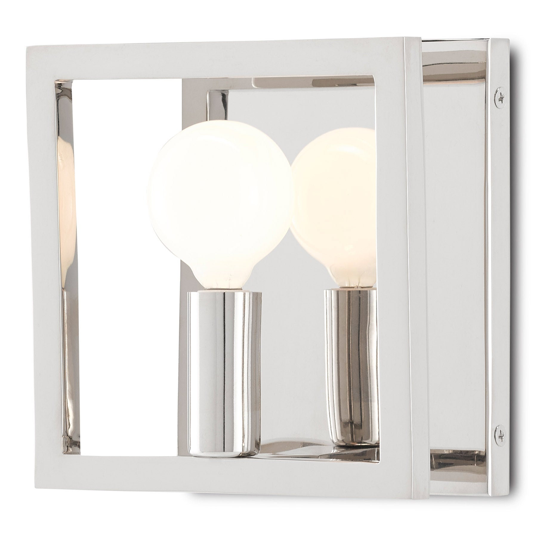 Quadrato Nickel Wall Sconce