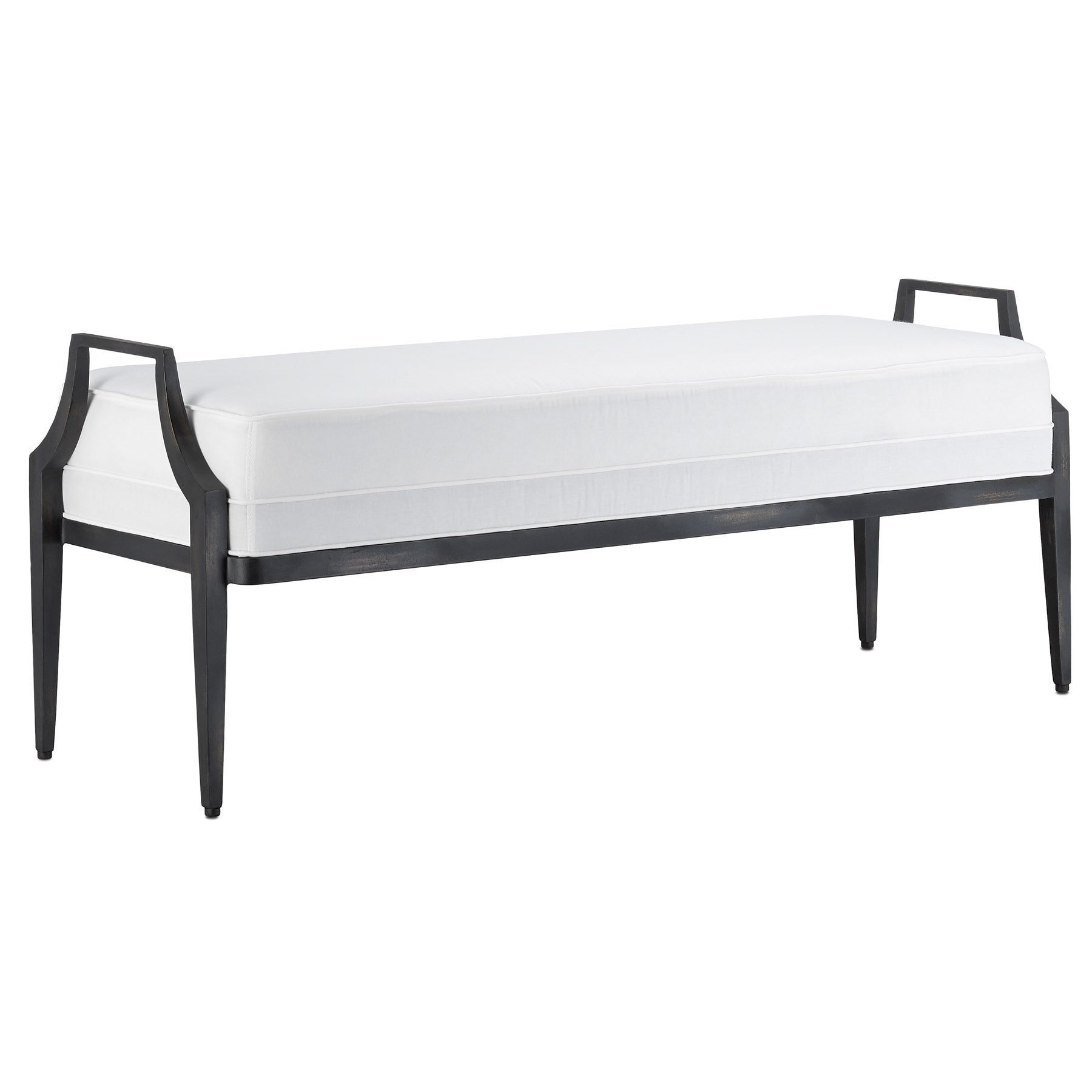 Torrey Muslin Black Bench