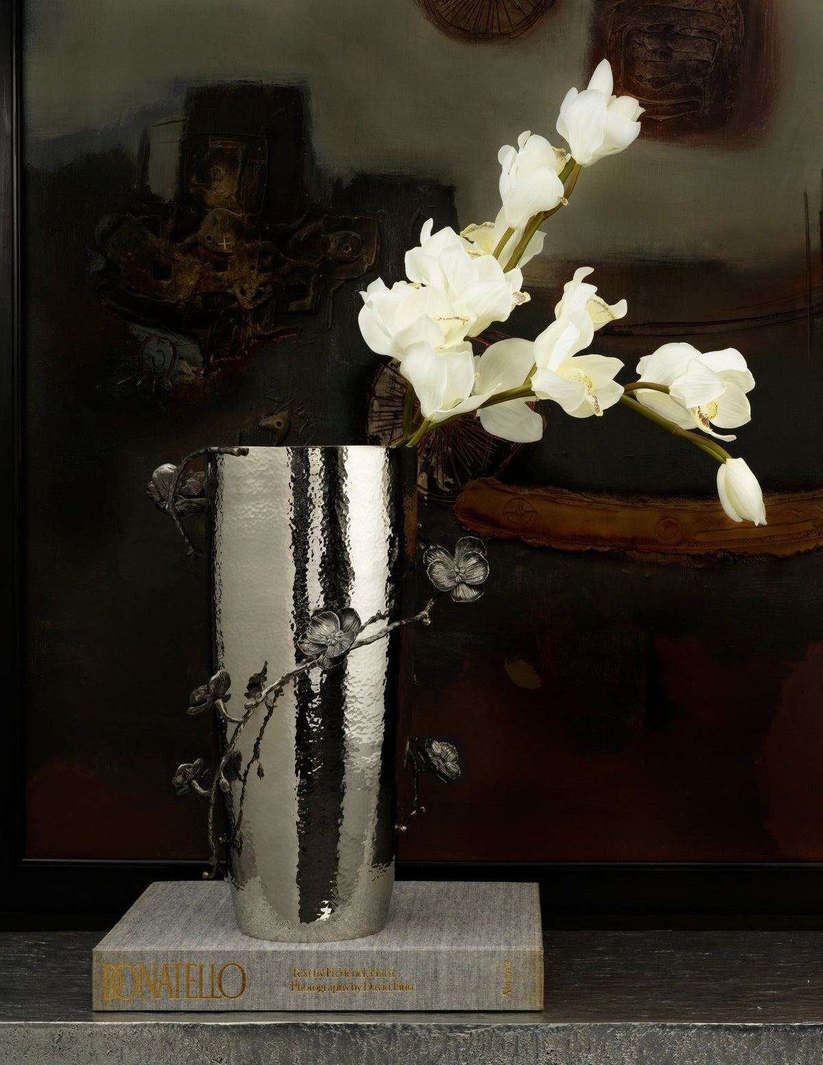 Black Orchid Centerpiece Vase