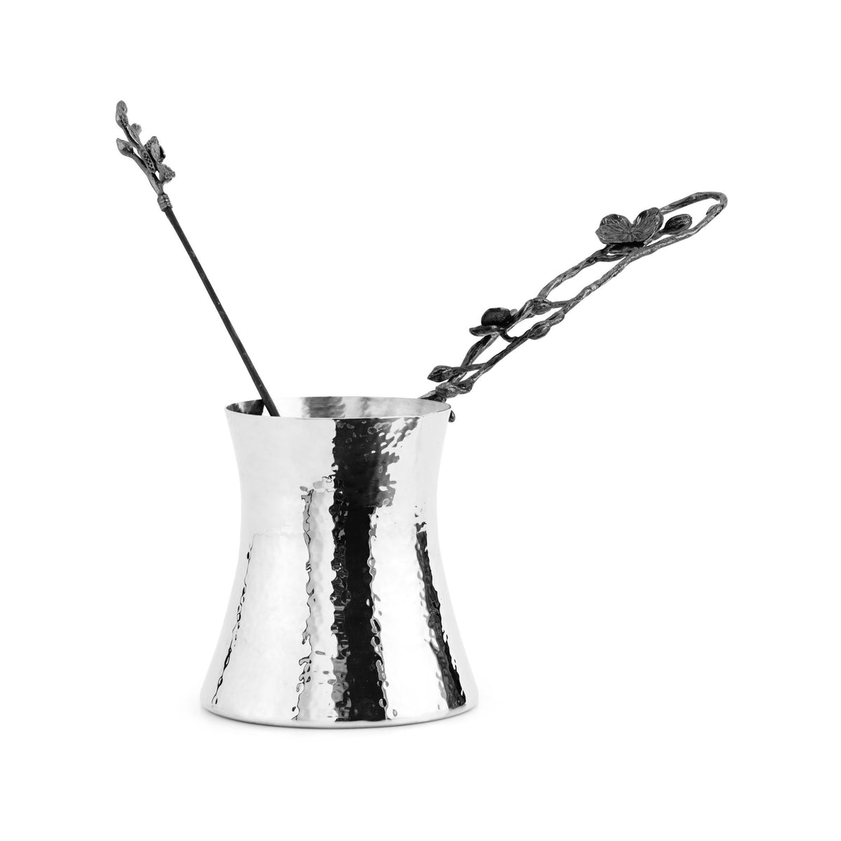 Black Orchid Large Coffee Pot w/ Spoon