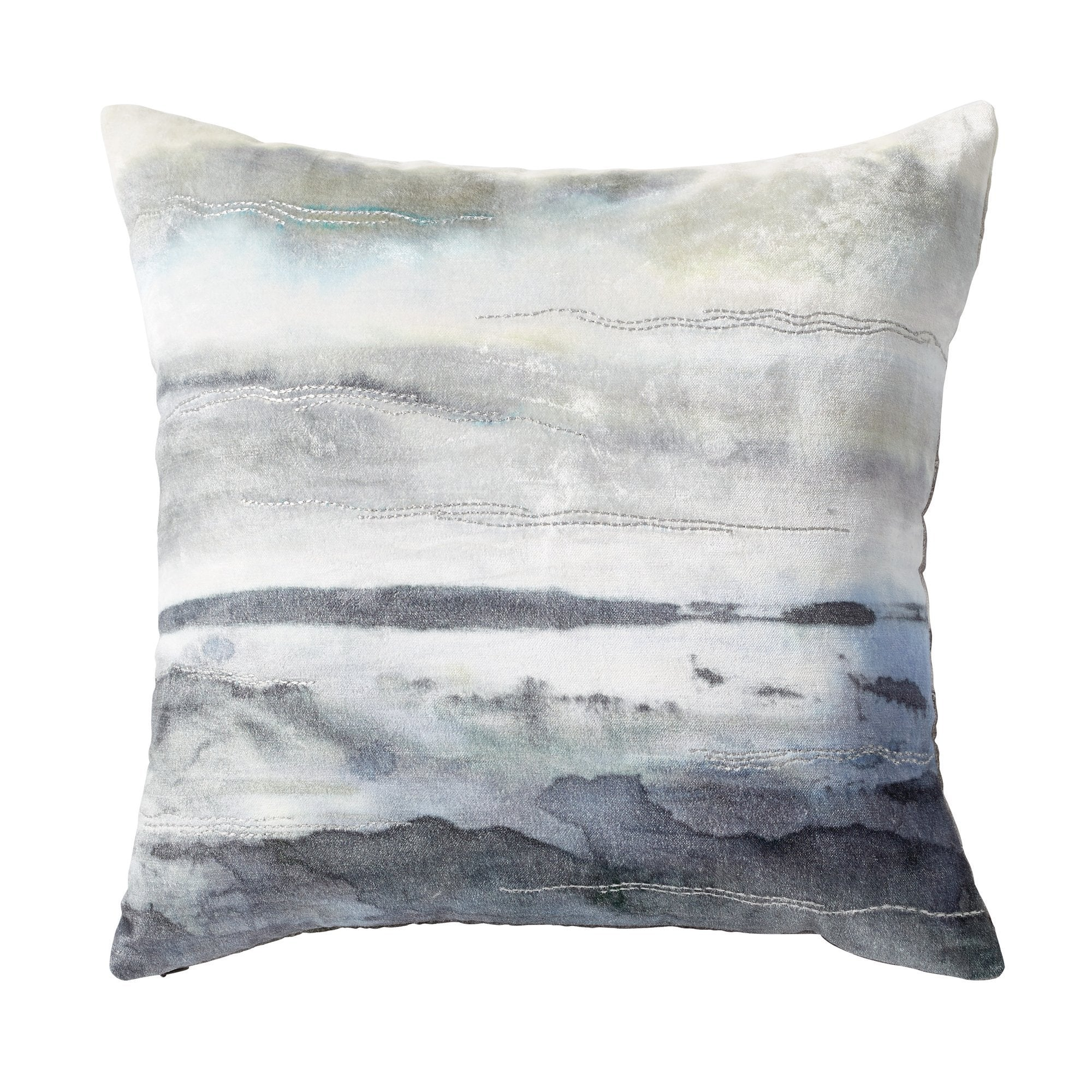 Brushed Landscape Decorative Pillow