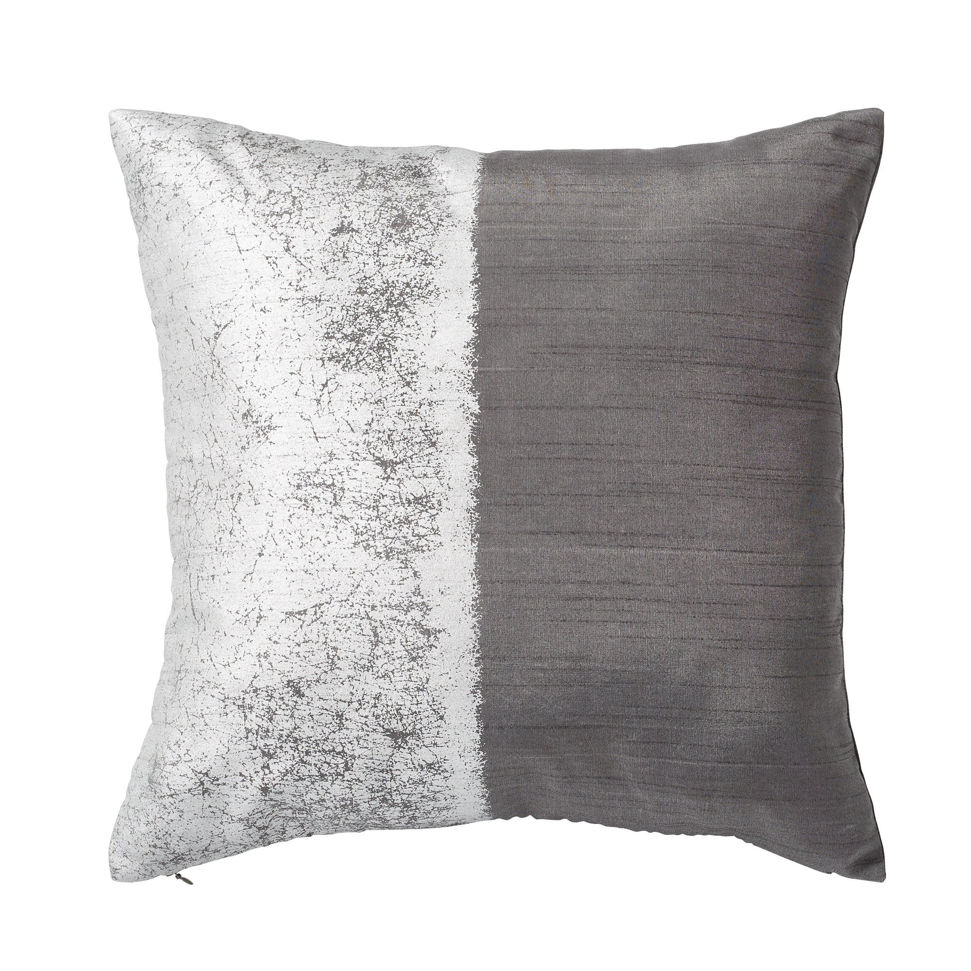 Metallic Texture Decorative Pillow - Charcoal