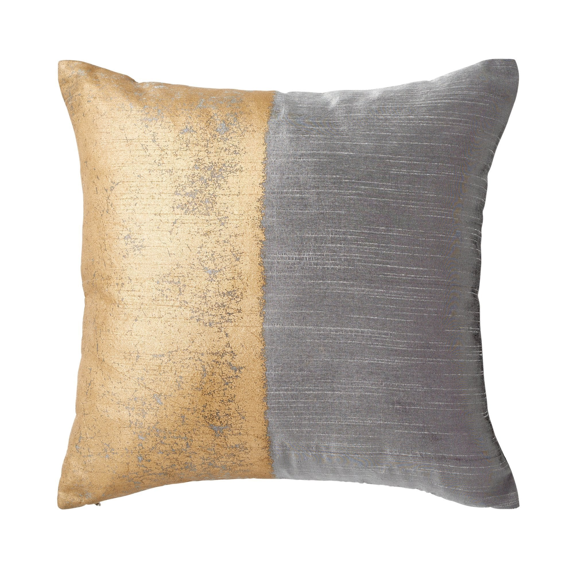 Metallic Texture Decorative Pillow - Grey