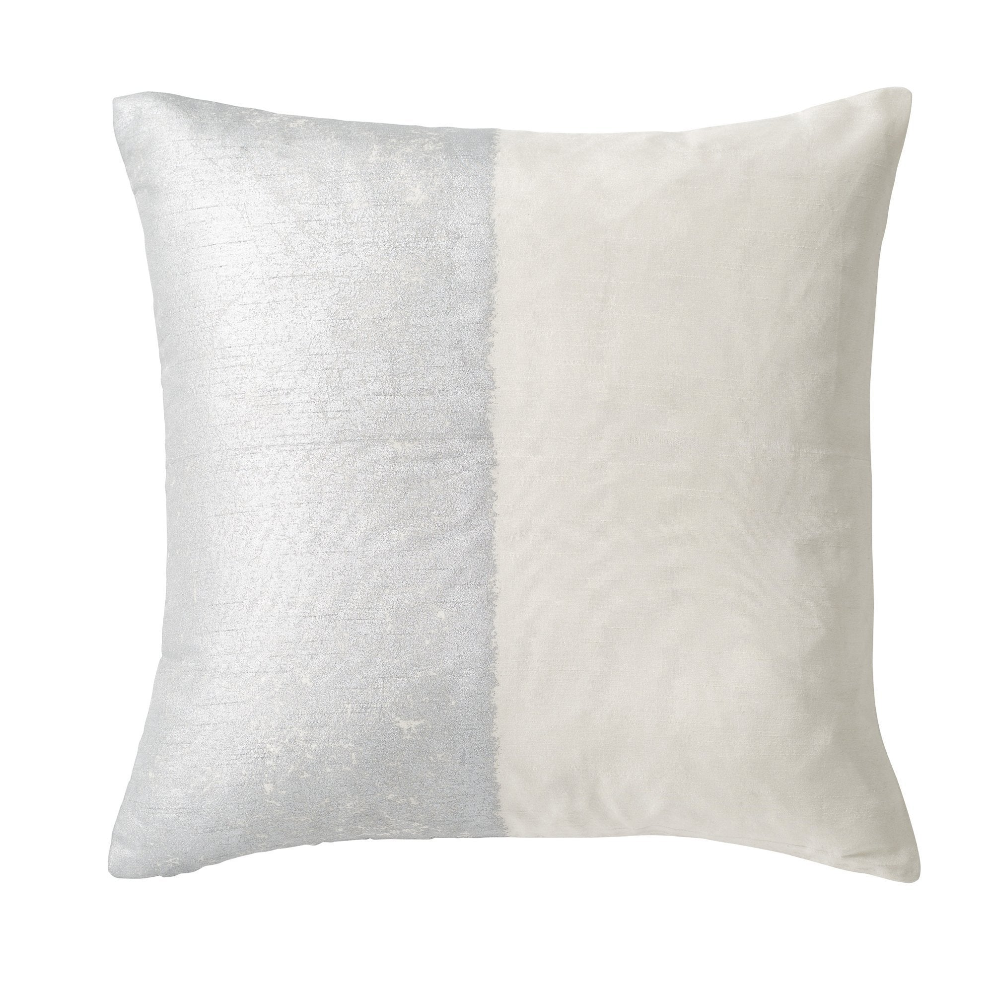 Metallic Texture Decorative Pillow - Ivory