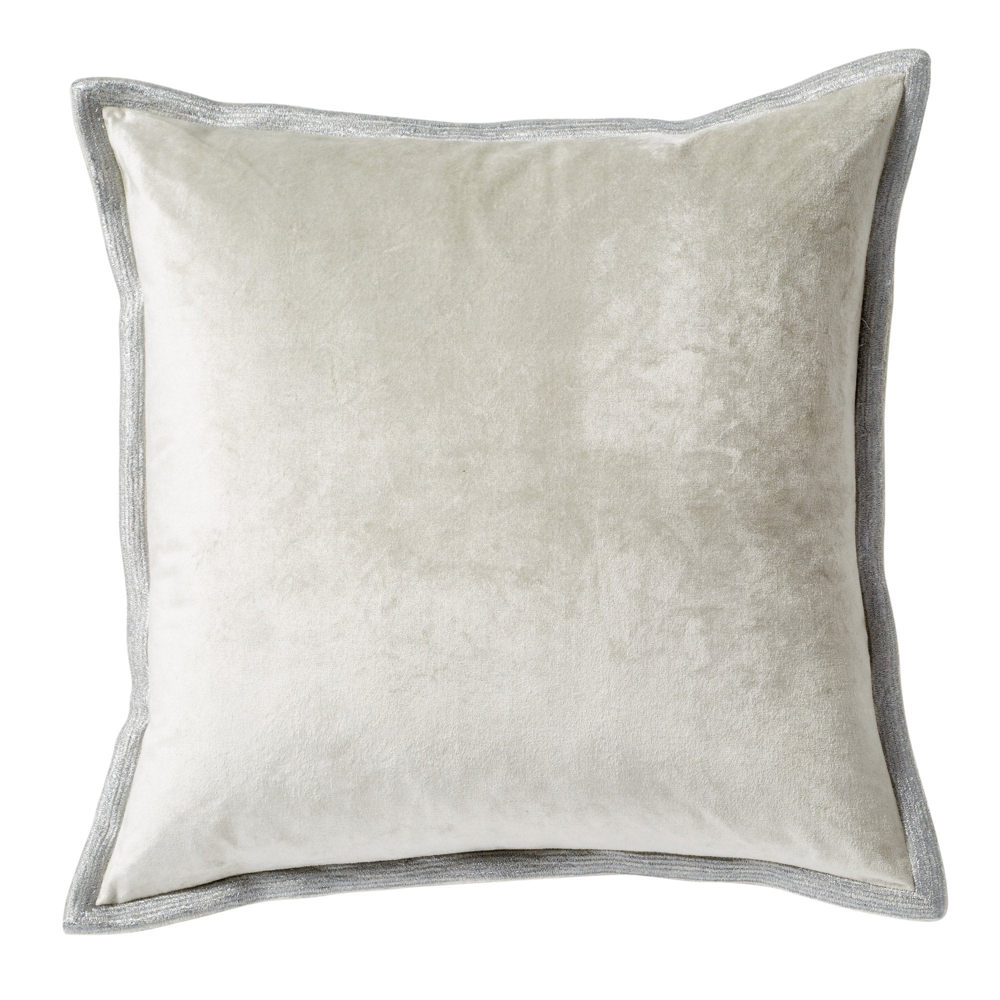 Velvet Metallic Stitch Decorative Pillow - Seafoam