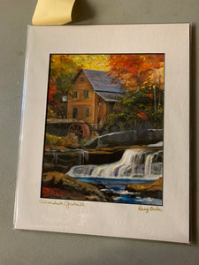 """Adirondack Gristmill,"" matted print"