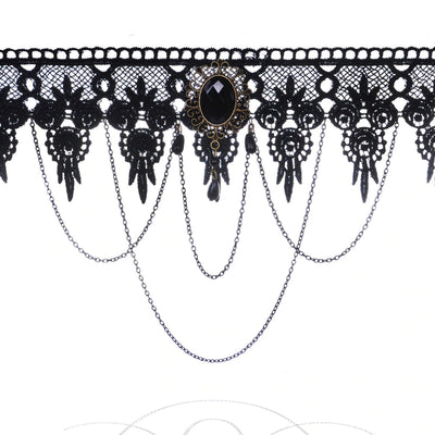 Black Lace Gothic Choker Necklace