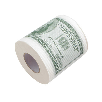 Funny Fake One Hundred Dollar Bill Gag Toilet Paper Roll $100 Novel Gift