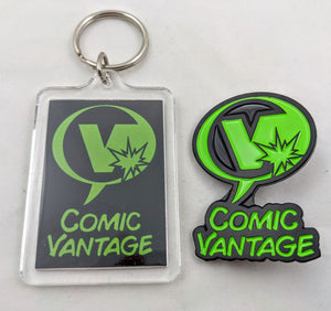 Comic Vantage Keychain and Pin Combo Pack
