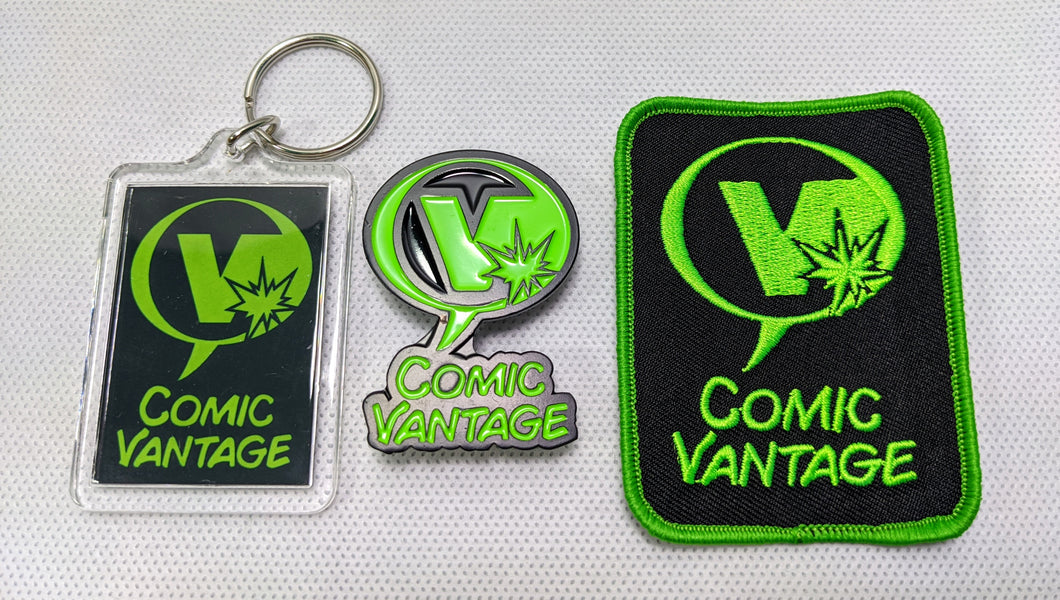 Comic Vantage Ultimate Swag Fan Pin Patch & Keychain Combo Pack