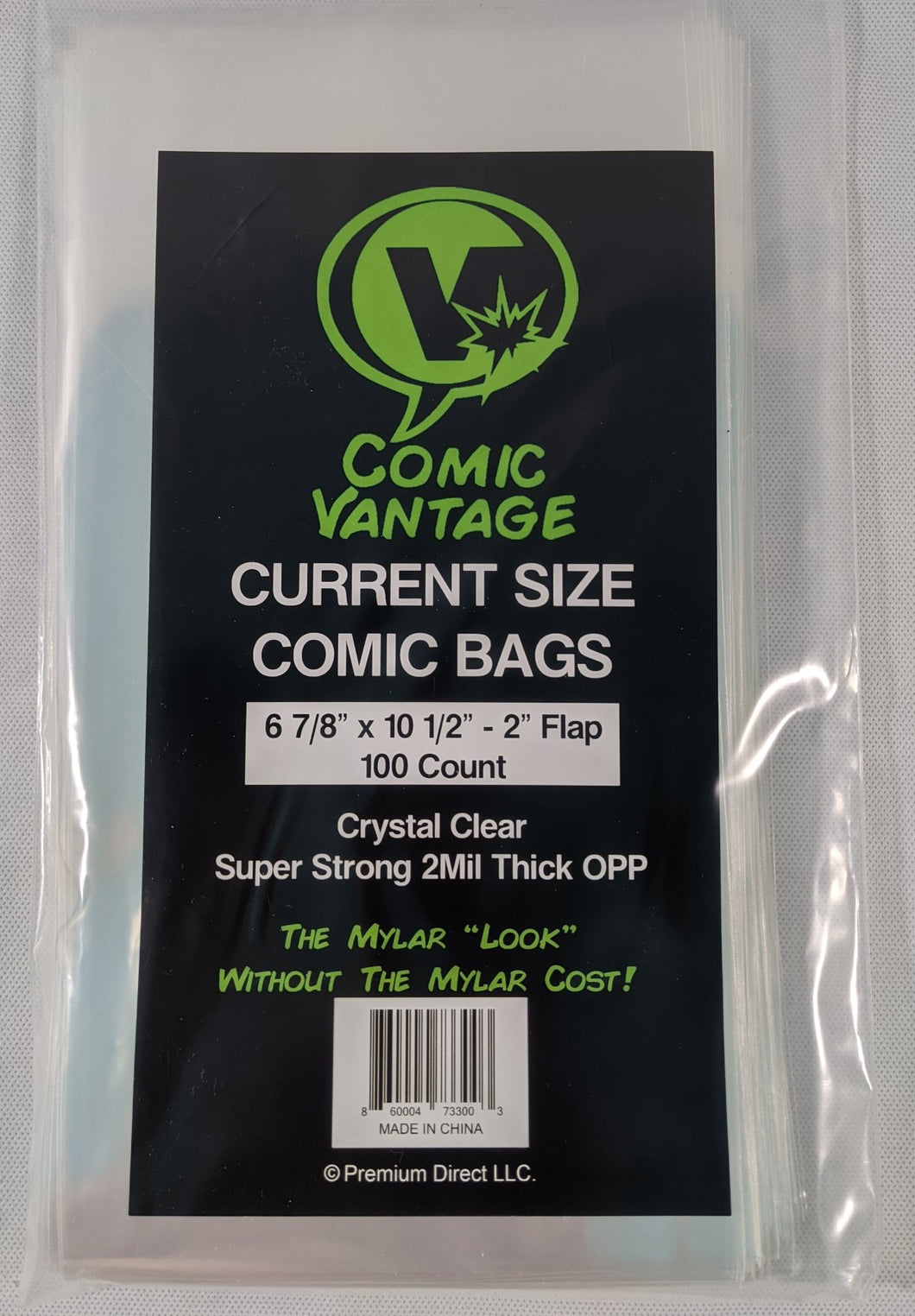 Comic Vantage Current Size Crystal Clear Comic Bags