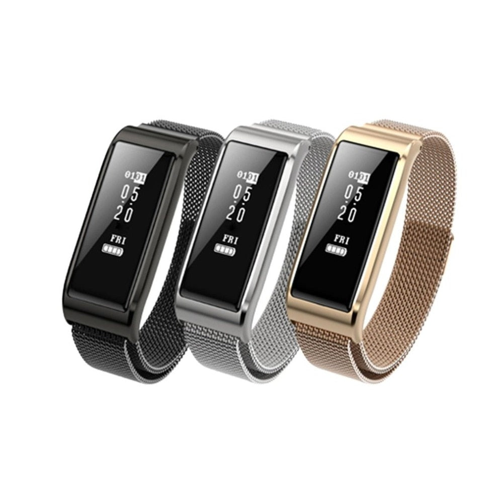 Waterproof Health Smart Bracelet Metal Strap Sports Wristband IP67