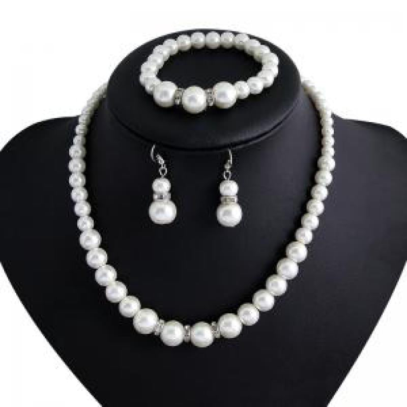 wild imitation pearl Jewelry Set