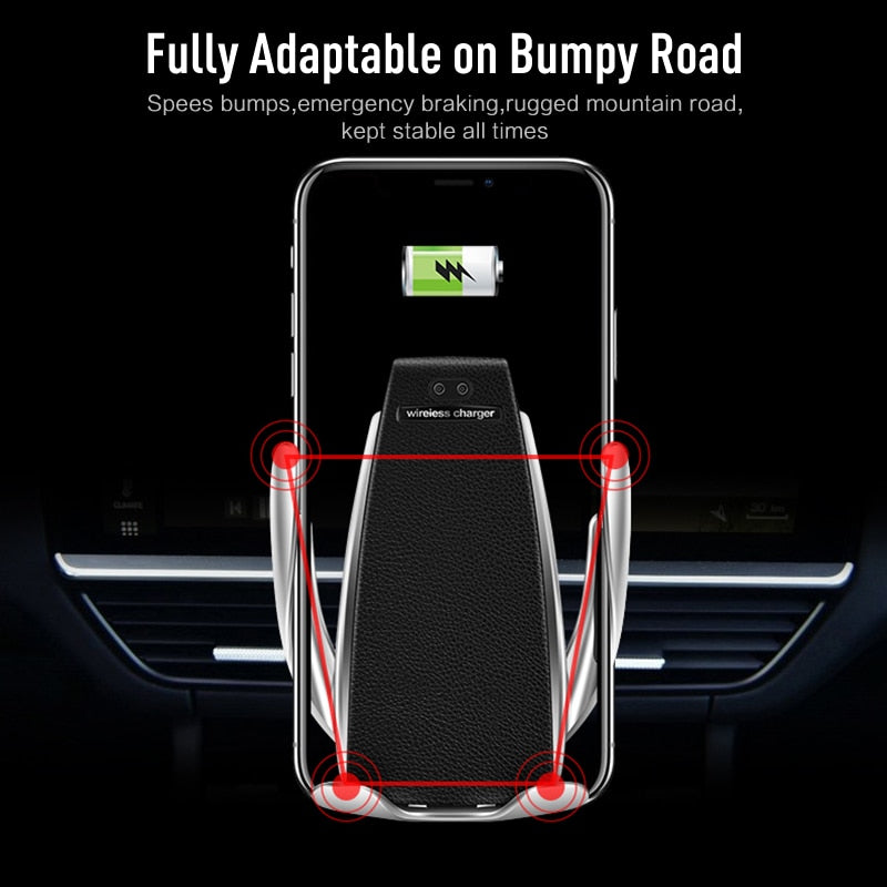 Automatic Wireless Car Phone Holder Charger With 360° Degree Rotation