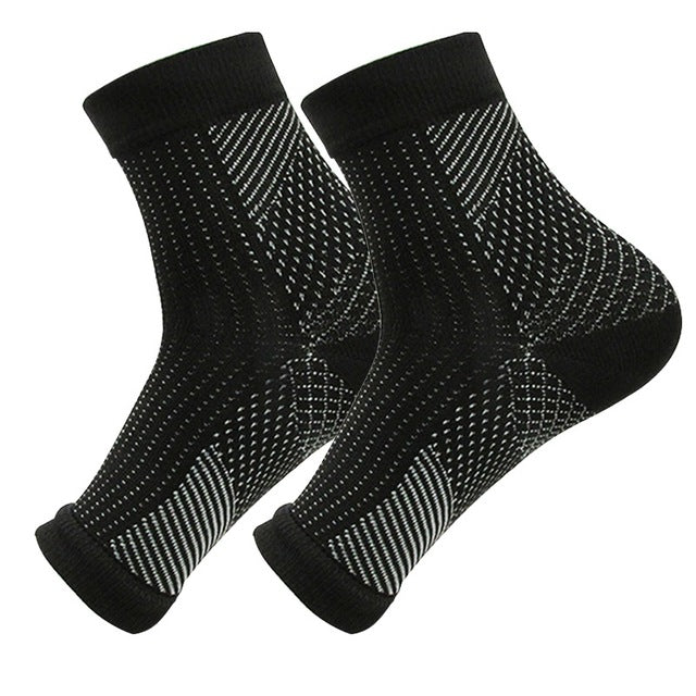 Nylon Ankle Sport Support Sock Plantar Fascistic Compression Socks 1 Pair