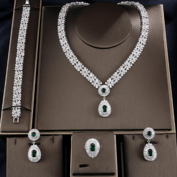 Dubai Luxury Jewelry Set Necklace Earring Bracelet