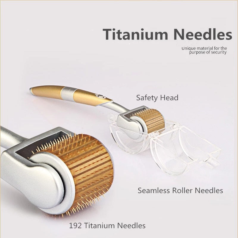 ZGTS192 Derma Roller Titanium Stainless Steel Needles For Facial Skin Care Microneedle Derma Rollering Therapy