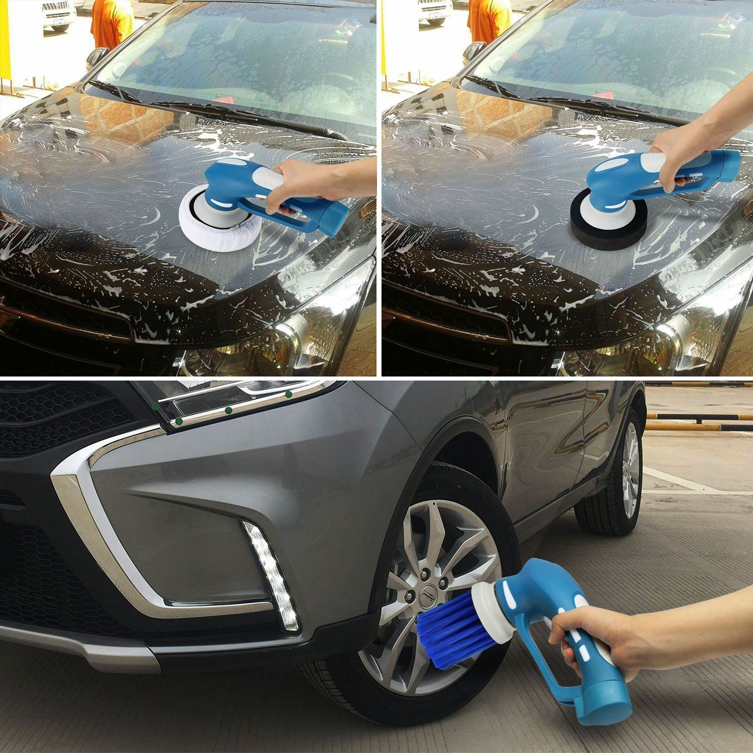 Mini Cordless Car Cleaner Handheld Electric Machine Waterproof Tool Set